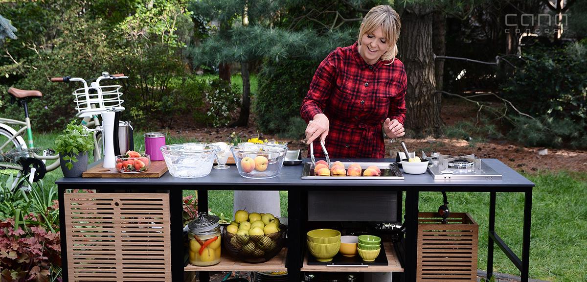 kuchnia ogrodowa ekskluzywne meble ogrodowe grill gazowy