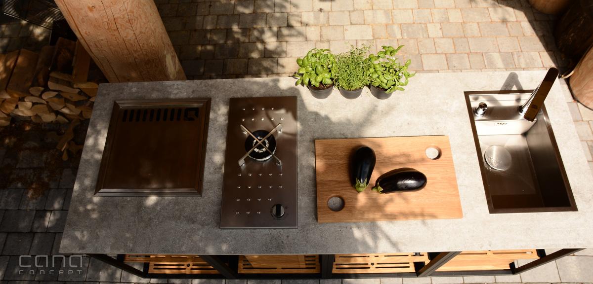 letnia kuchnia ogrodowa ekskluzywne meble ogrodowe grill gazowy